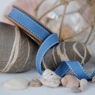 Squadron Blue Stitched Ribbon