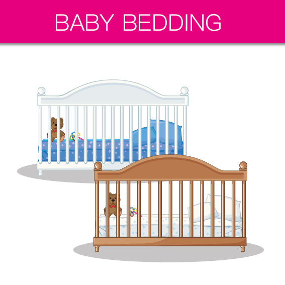 baby bedding, bumper, pillow & duvet, canopy, sheet, cot bedding, moses basket bedding, cradle bedding, baby wrap, sleeping bag, baby blanket,
