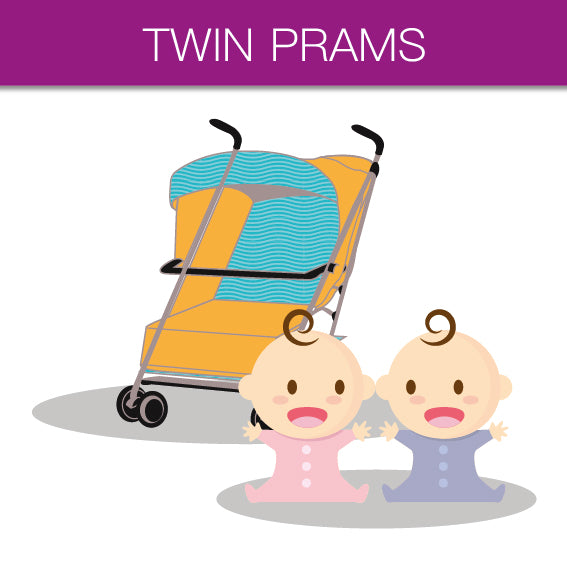 Double buggy, twin pram, twin prams, double buggies