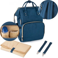 Changing backpack - navy blue - Little Baby Shop -