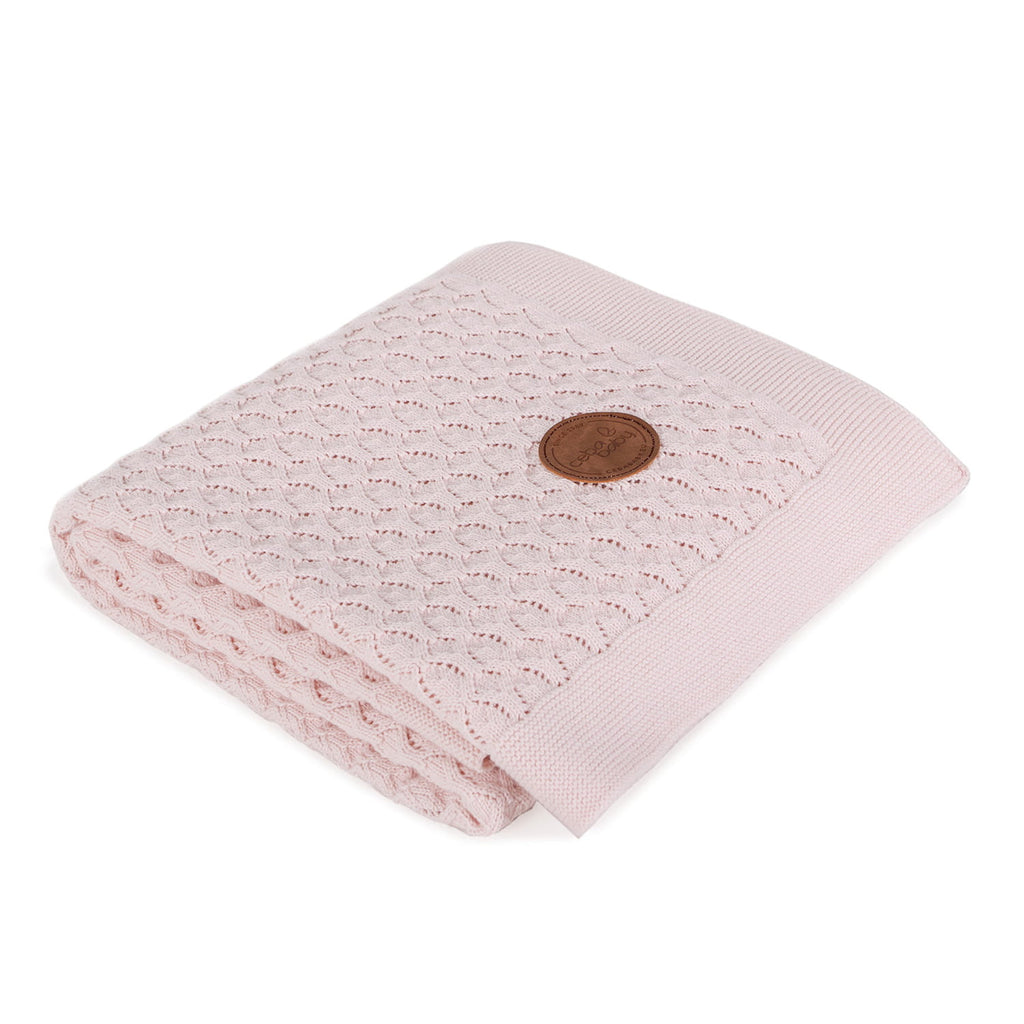 KNITTED BLANKET IN GIFT BOX - PINK WAVES - Little Baby Shop -
