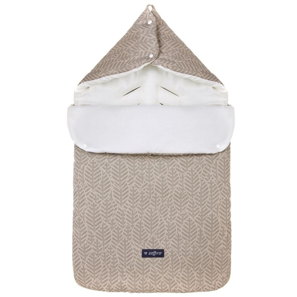 Sleeping Bag 5 in 1 (Basic Collection) - beige leaves, Little Baby Shop Ltd.