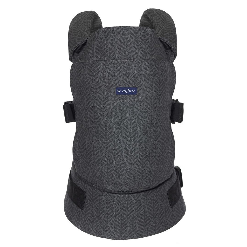 Baby Carrier CARE - graphite leaves, Little Baby Shop Ltd.