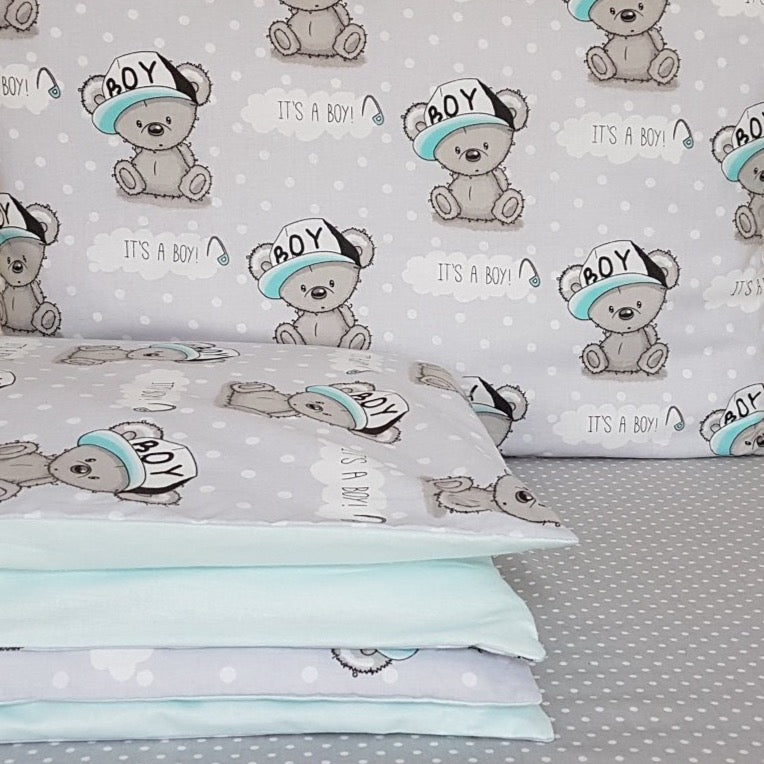 Cot Bedding Set - it's a boy