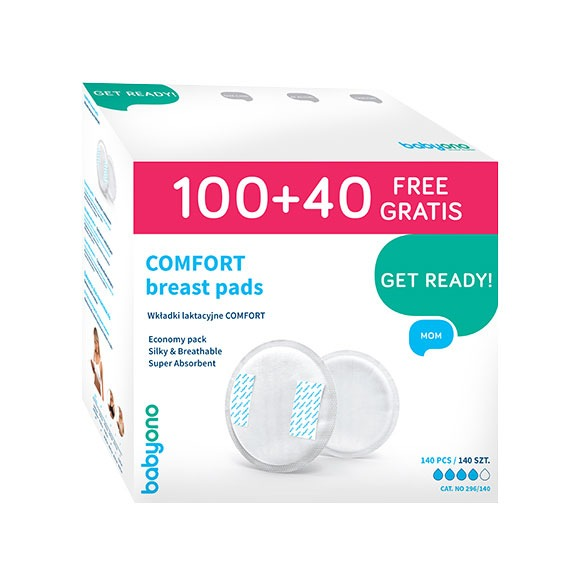 COMFORT Breast Pads 100+40 PCS. FREE - Little Baby Shop -