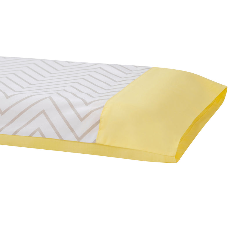 ClevaMama ClevaFoam® Toddler Pillow Case - grey/yellow, Little Baby Shop Ltd.