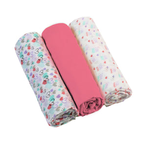 Muslin Cloths (3 pcs) - pink, Little Baby Shop Ltd.