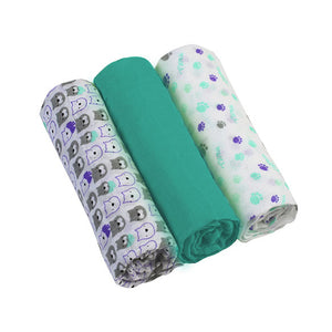 Muslin Cloths (3 pcs) - turquoise, Little Baby Shop Ltd.