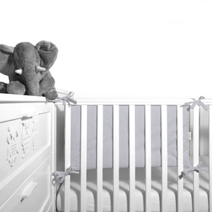 Cot Bumper (pastel collection) - grey - Little Baby Shop -