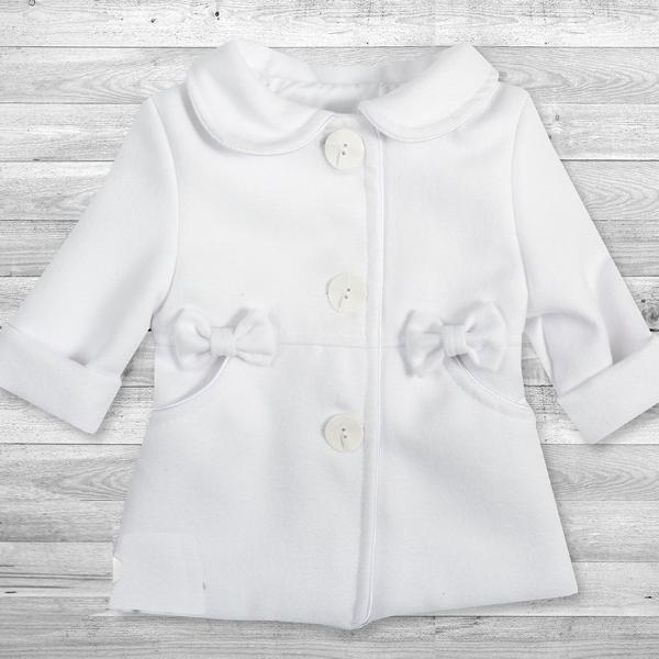 Fleece Coat - white - Little Baby Shop -