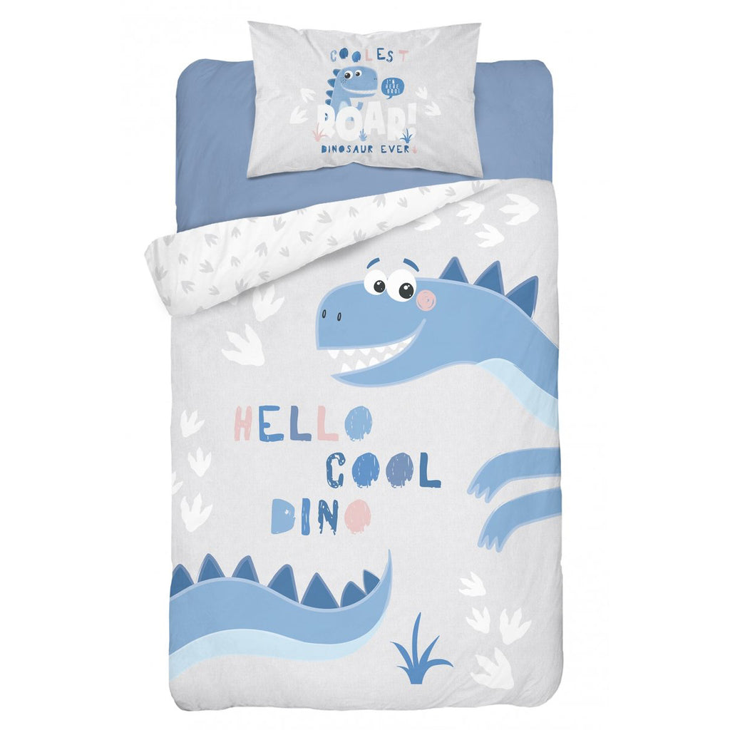 Double-sided Bamboo Bed Linen - cool dino