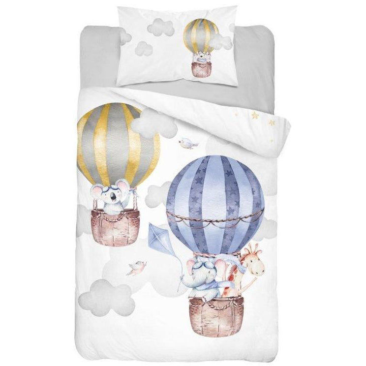 Double-sided Bamboo Bed Linen - blue balloons