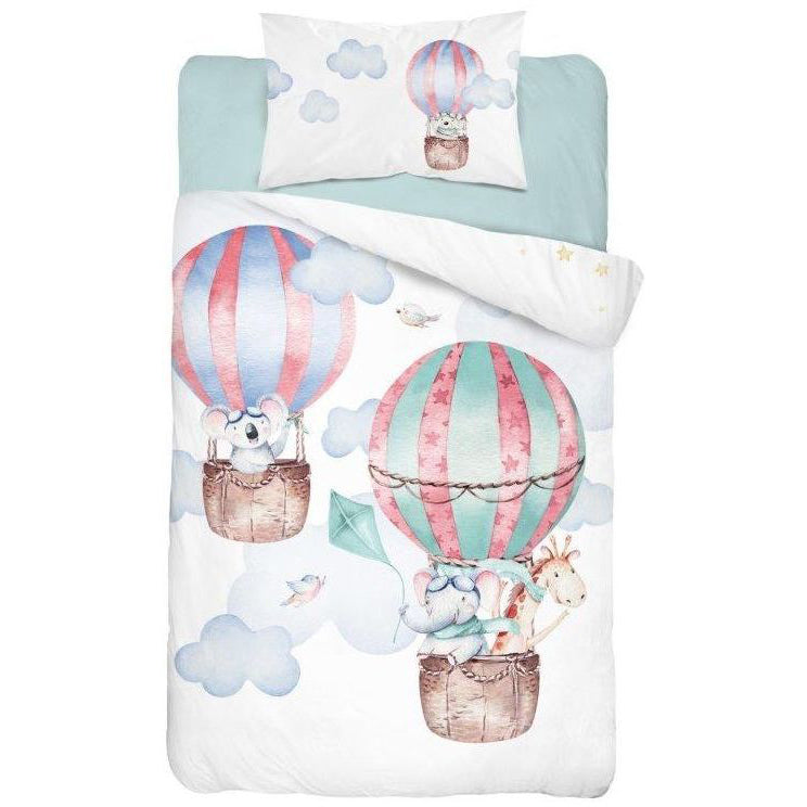 Double-sided Bamboo Bed Linen - pink baloons