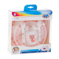Canpol babies Plastic Tableware CUTE ANIMALS - pink, Little Baby Shop Ltd.