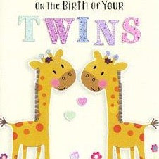 Greeting Card - Birth Congrats Twins