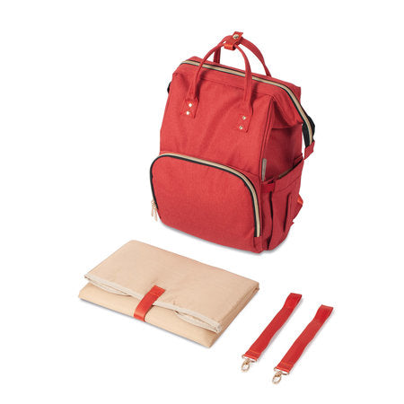 Changing backpack - red - Little Baby Shop -