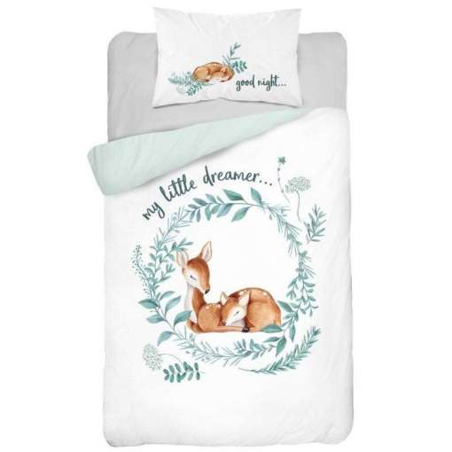 Double-sided Bamboo Bed Linen - bambi/blue