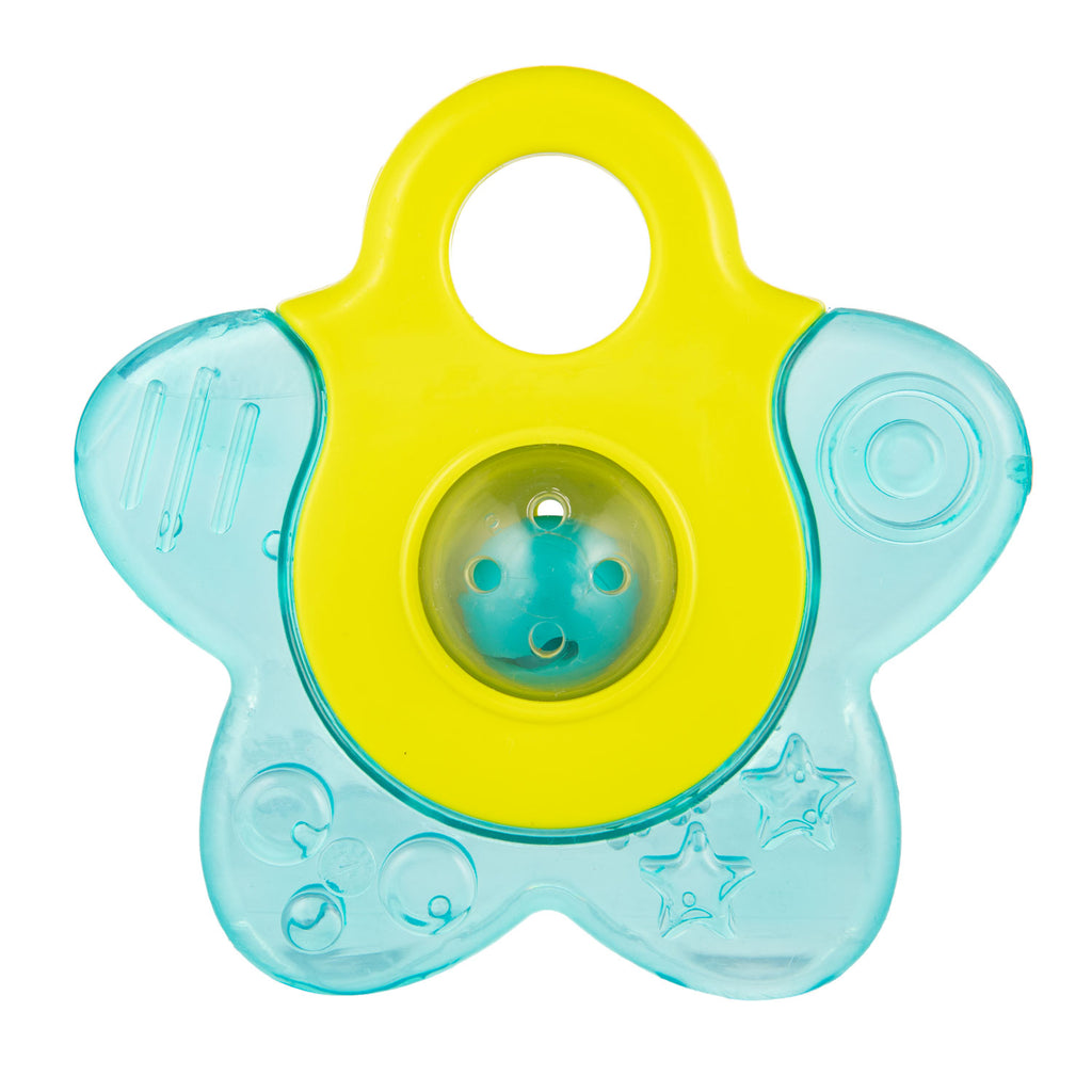 Water Teether with Rattle STAR - turquoise, Little Baby Shop Ltd.