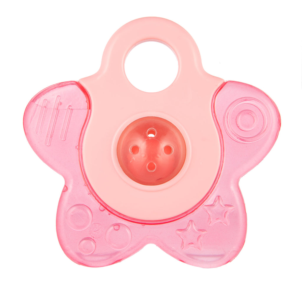 Water Teether with Rattle STAR - pink, Little Baby Shop Ltd.