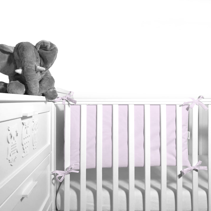 Cot Bumper (pastel collection) - light pink - Little Baby Shop -