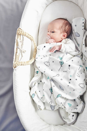 PHOTO-BLANKET® - MINTY WHITE - Little Baby Shop -