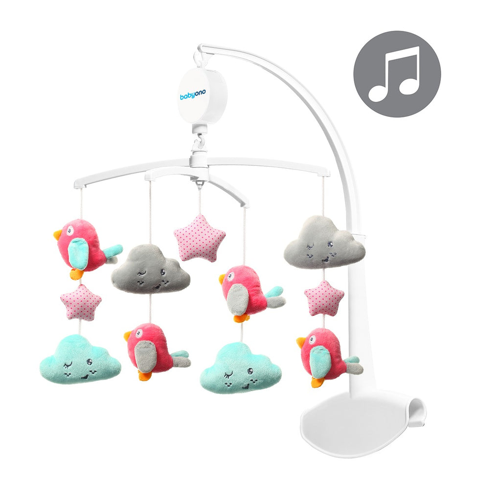 Musical mobile - CLOUDS & BIRDS - Little Baby Shop -