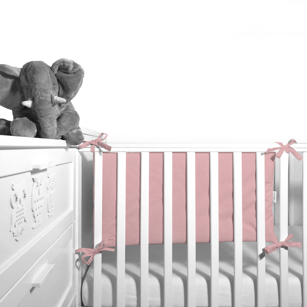 Cot Bumper (pastel collection) - pink powder - Little Baby Shop -