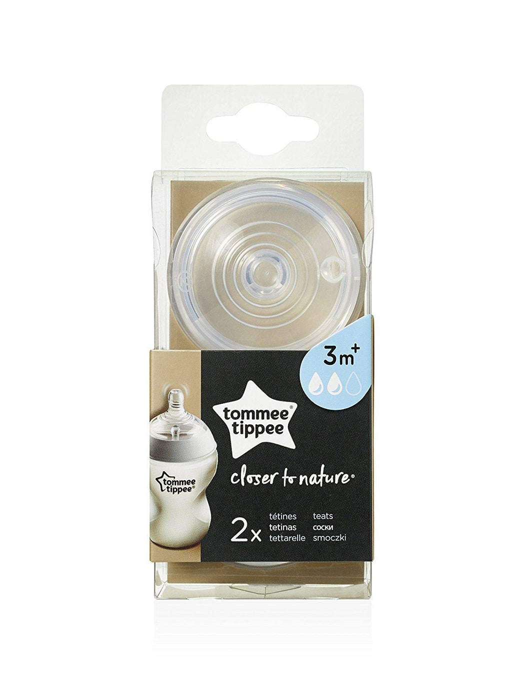 Tommee Tippee Closer to Nature Teat 3m+ - Little Baby Shop -