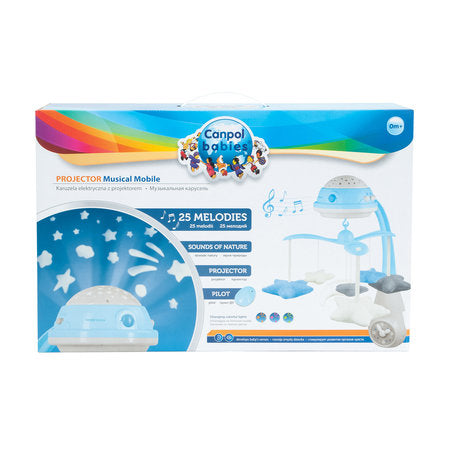 Canpol babies Musical Mobile with Projector - blue - Little Baby Shop -