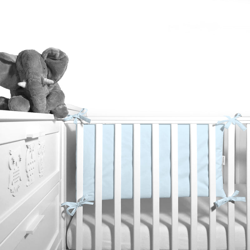 Cot Bumper (pastel collection) - baby blue - Little Baby Shop -