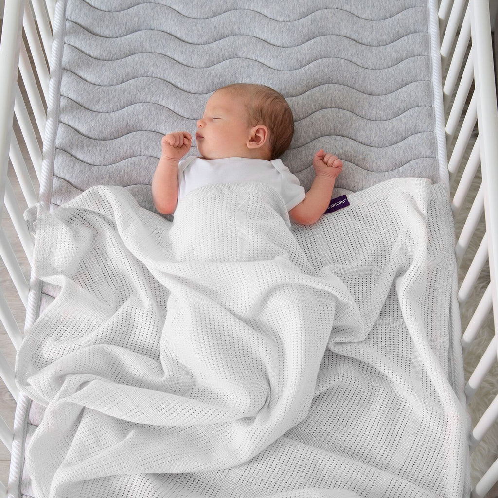 ClevaMama Cellular Blanket Crib/ Moses Basket - white - Little Baby Shop -