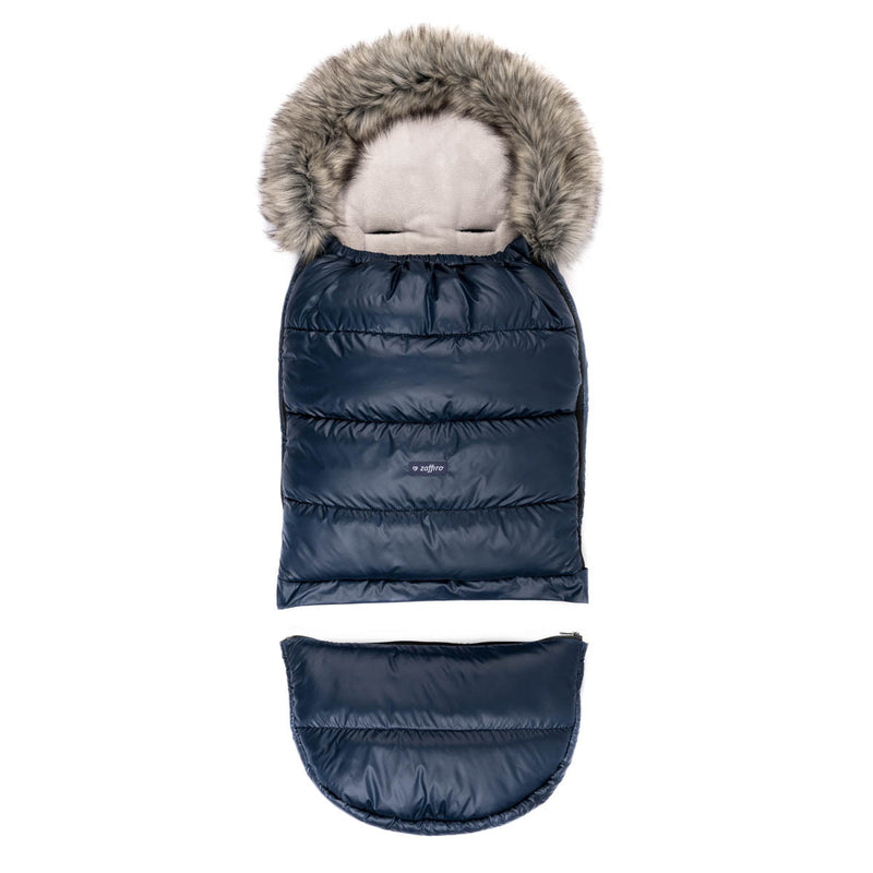 Grow UP Sleeping Bag / Footmuff - pastel navy blue - Little Baby Shop -