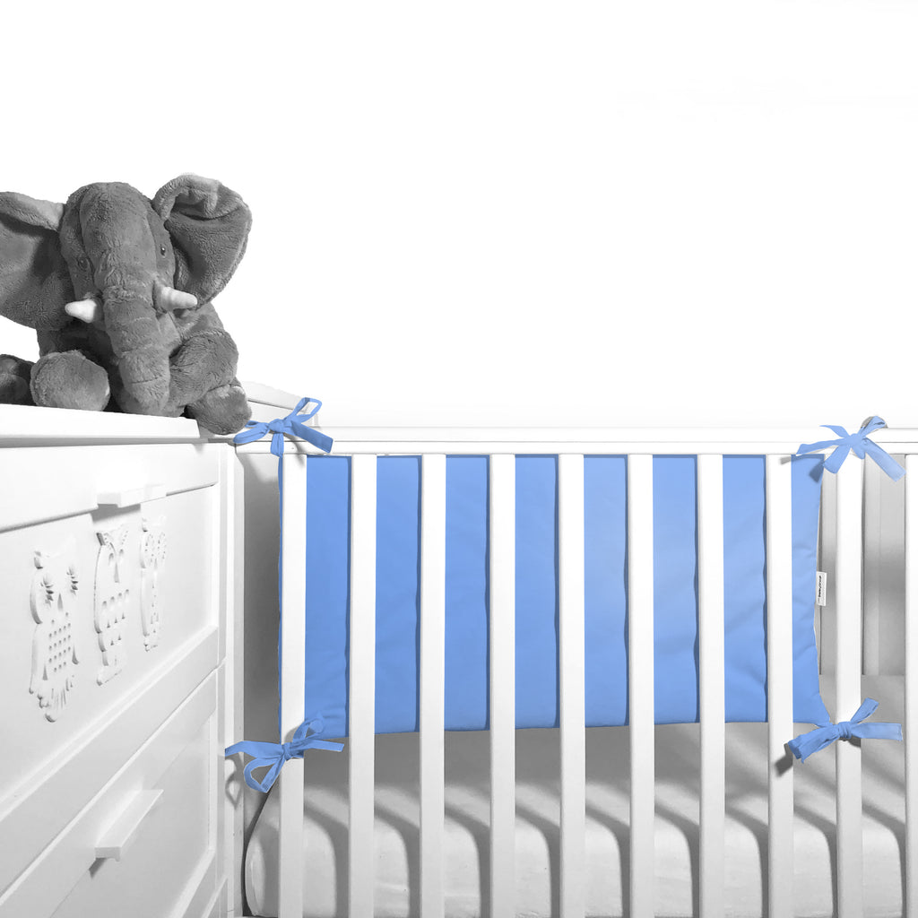Cot Bumper (pastel collection) - blue - Little Baby Shop -