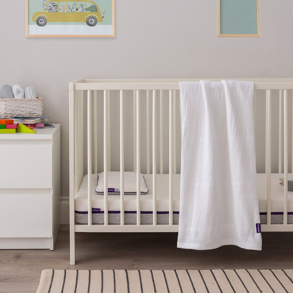 ClevaMama Cellular Blanket Cot/ Cot-Bed - white - Little Baby Shop -