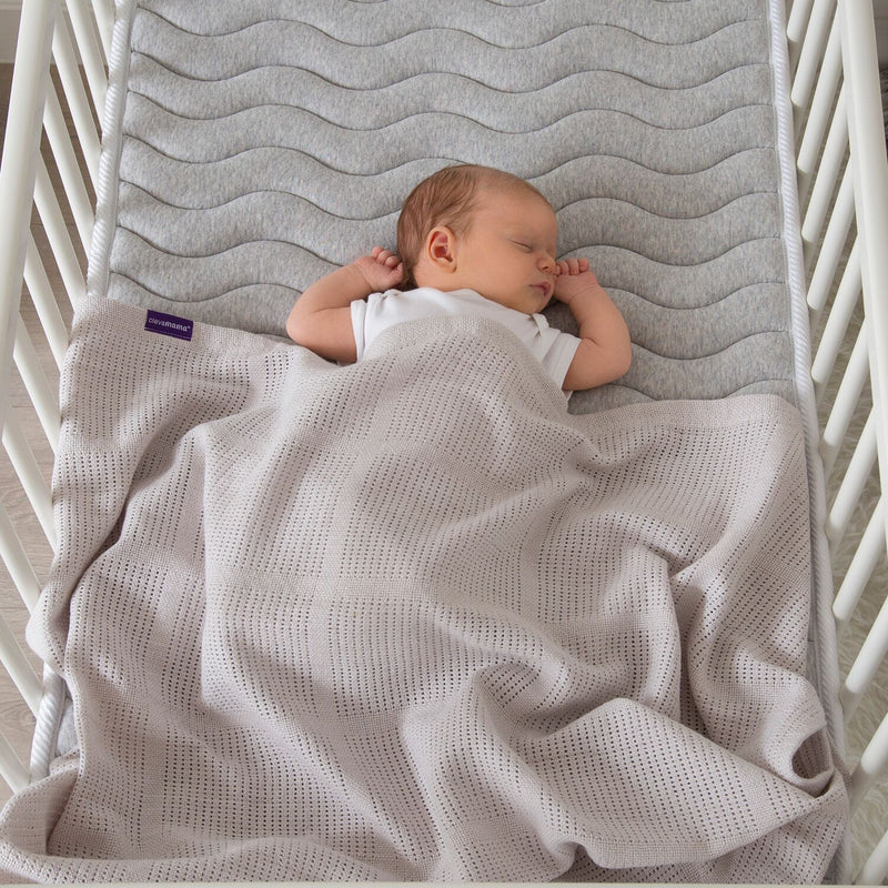 ClevaMama Cellular Blanket Crib/ Moses Basket - grey, Little Baby Shop Ltd.