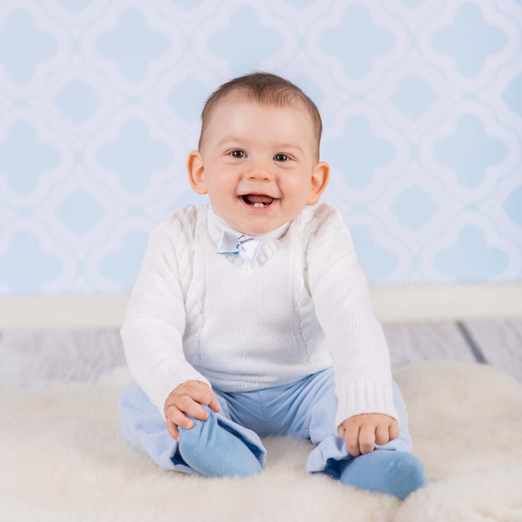 Baby boy jumper - white, Little Baby Shop Ltd.