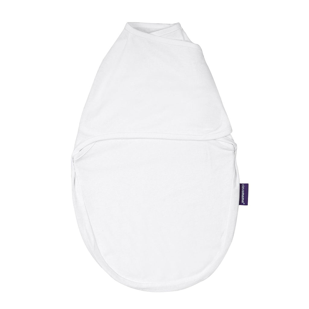 ClevaMama Swaddle to Sleep - Baby Swaddle Wrap - white