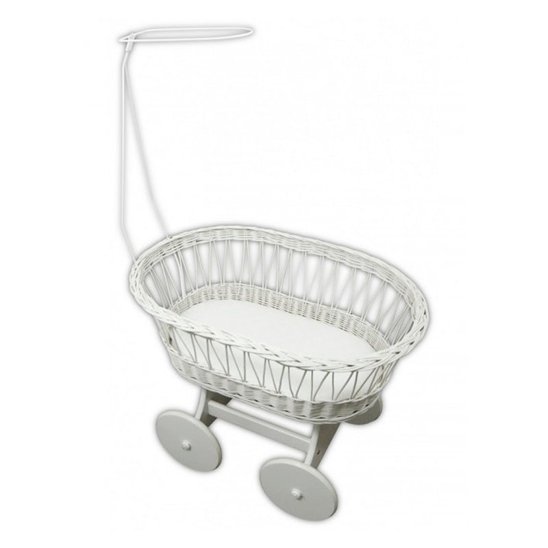 Moses Basket with Stand and Mattress - Little Baby Shop -