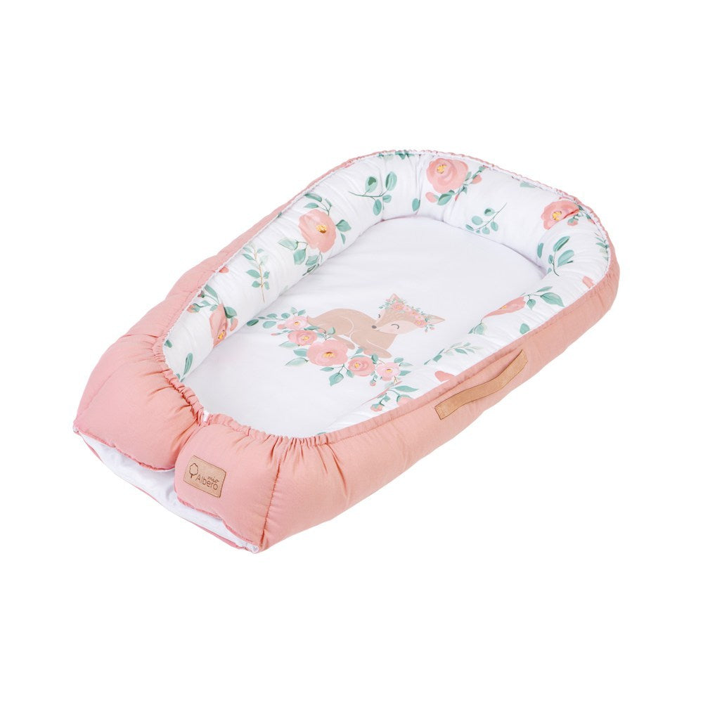 Baby Nest/Sleeping Pod (Love & Nature collection) - pink - Little Baby Shop -
