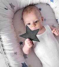 Baby Nest/Sleeping Pod - grey/stars
