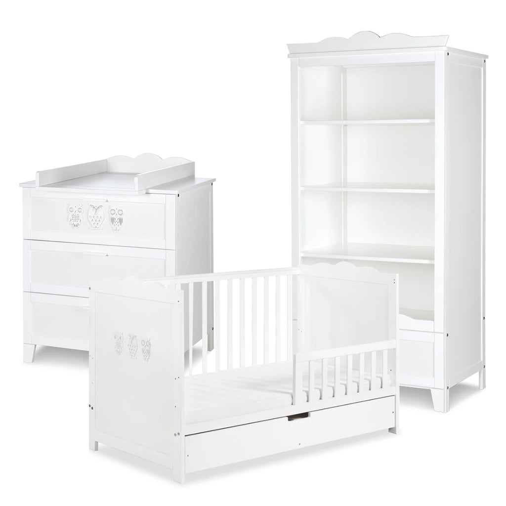 MILO Cot-Bed with Drawer Furniture Set (with Shelving Unit)