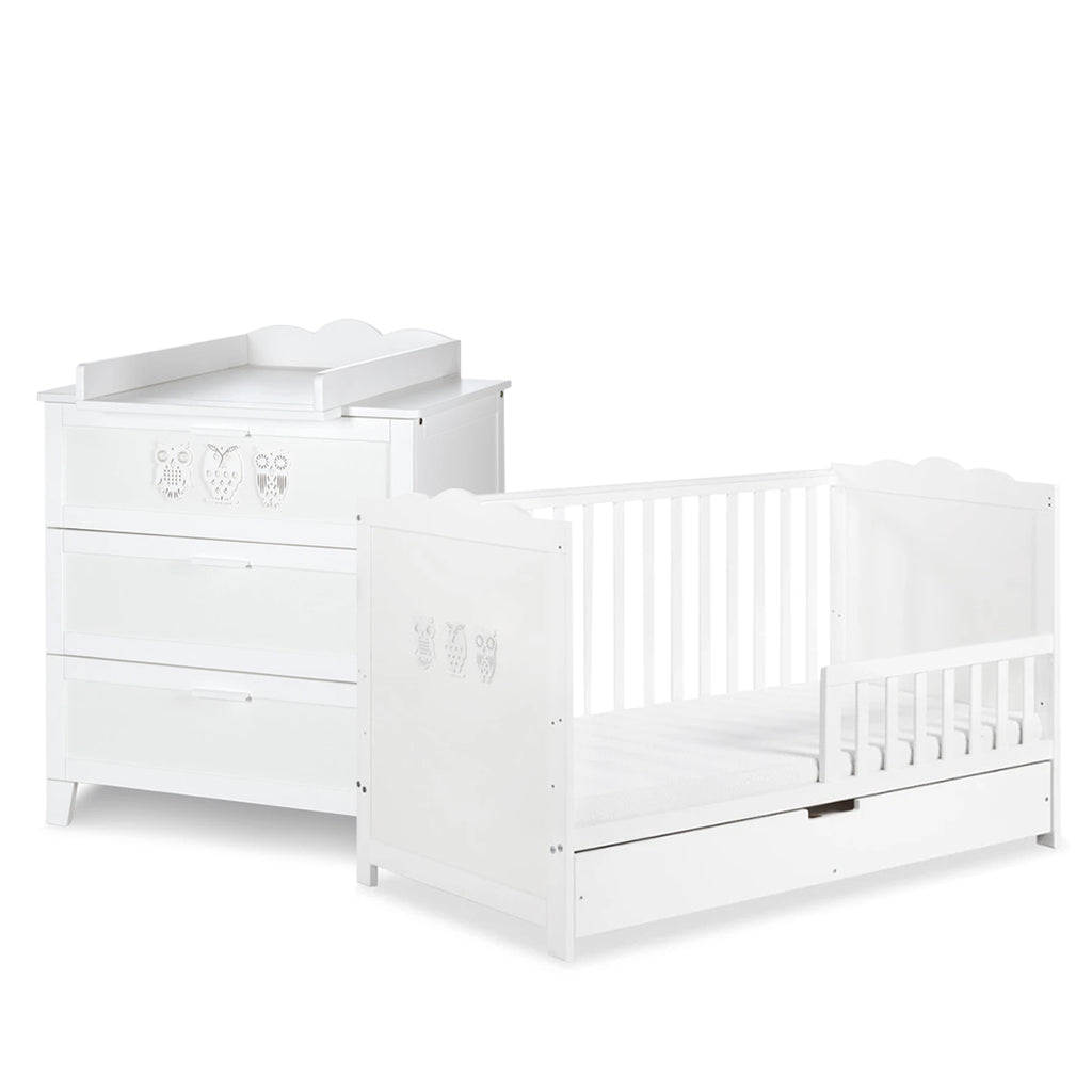 MILO Cot-Bed with Drawer & Changing Unit Set