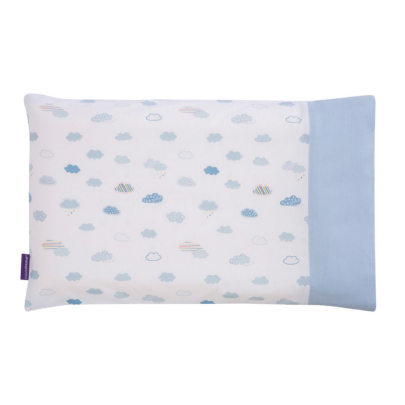 ClevaMama ClevaFoam® Baby Pillow Case - blue