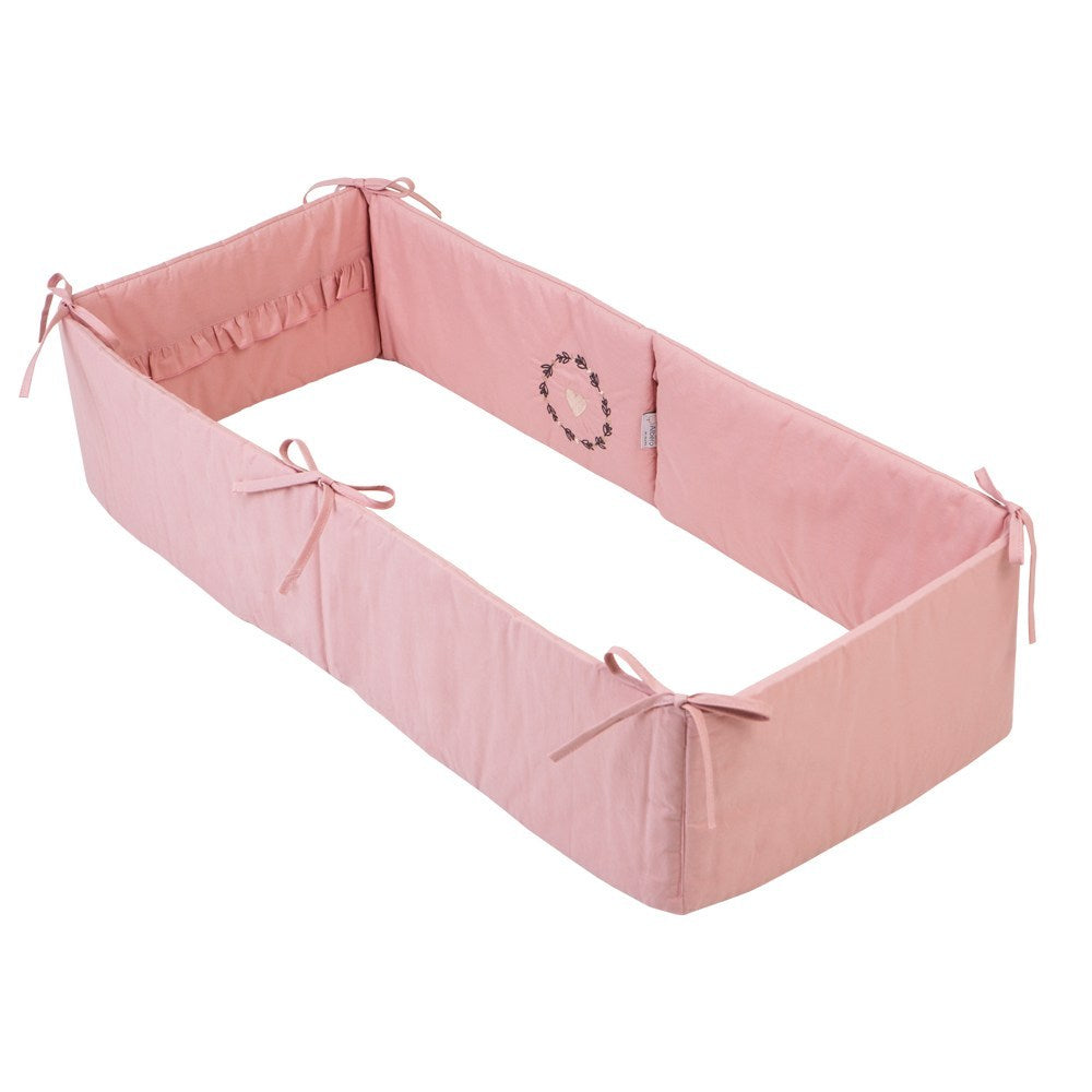 Mini Cradle Bumper - rose (Love & Nature collection) - Little Baby Shop -