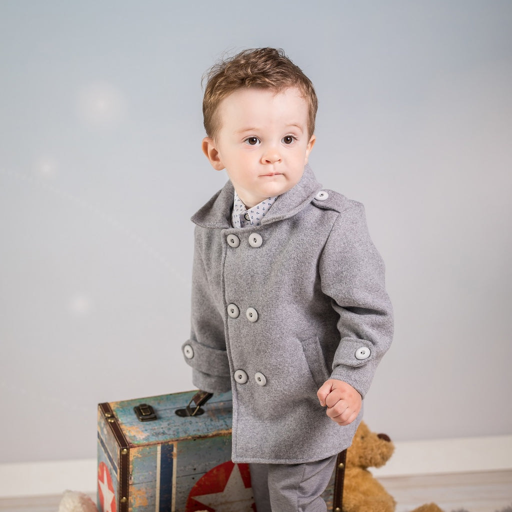 Grey Coat for Baby Boy