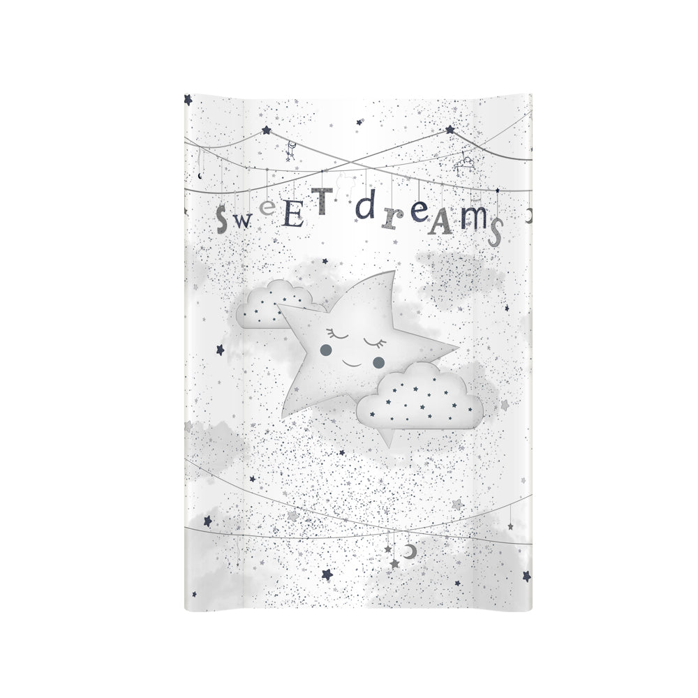 Star Dream Hard Base Changing mat - silver (long) - Little Baby Shop -