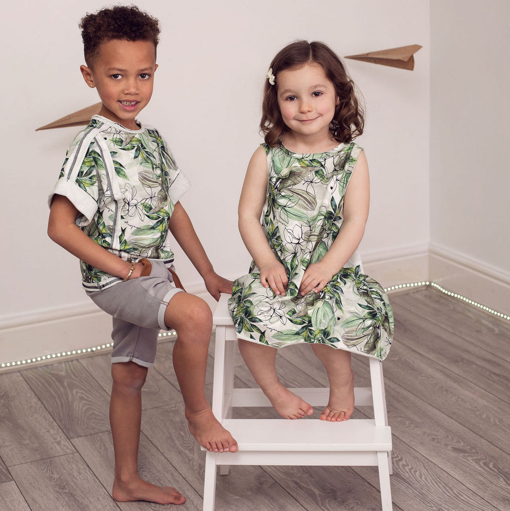 Girls' Organic Summer Dress - tropics