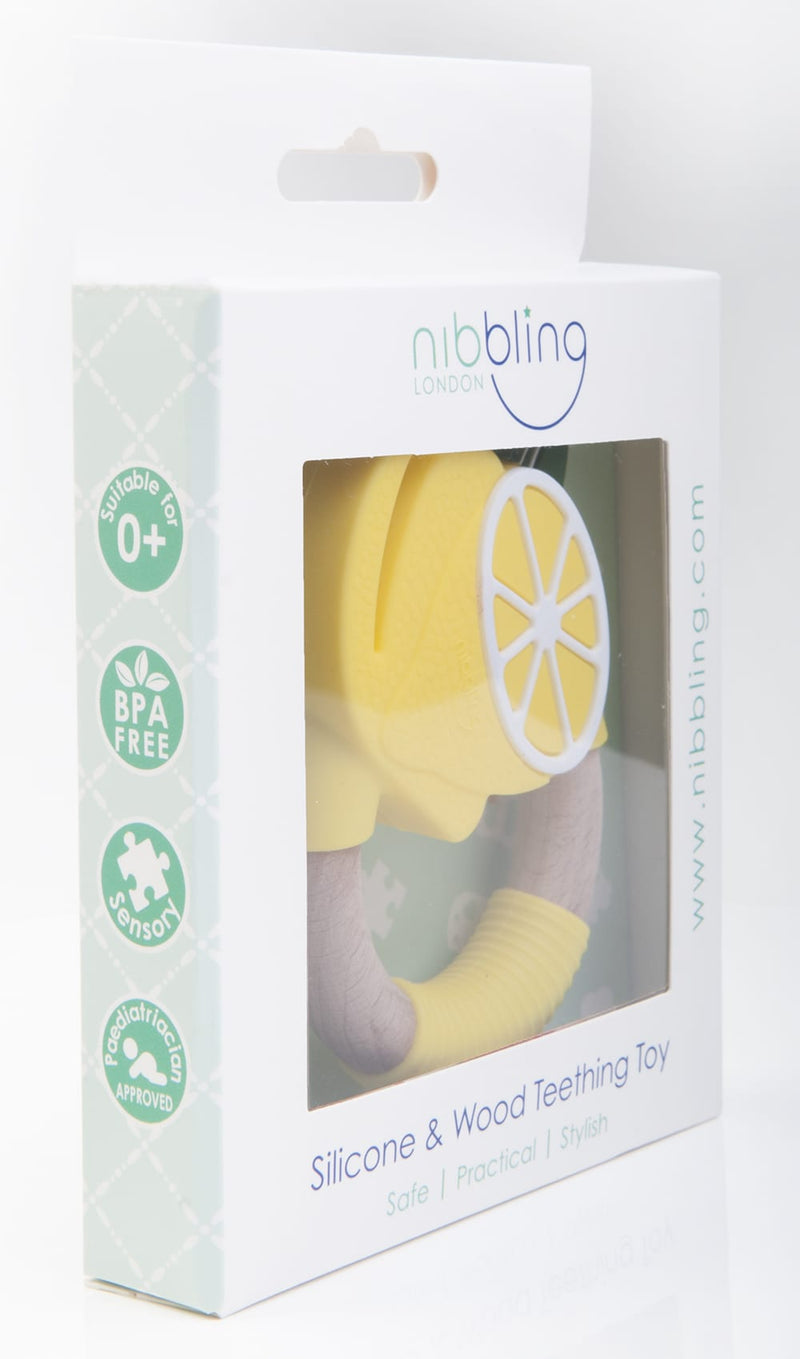Nibbling Superfoods Teething Toy - lemon, Little Baby Shop Ltd.