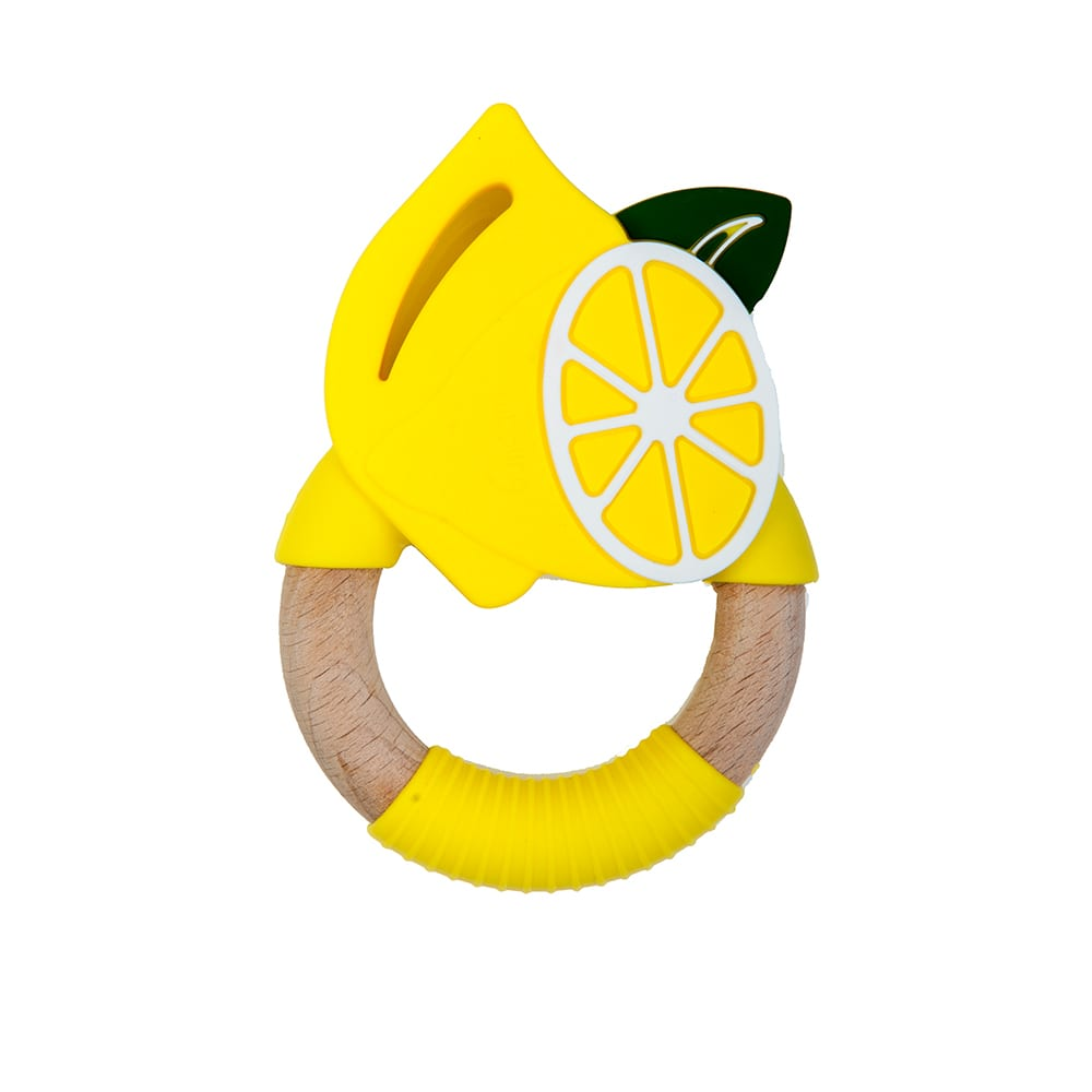 Nibbling Superfoods Teething Toy - lemon