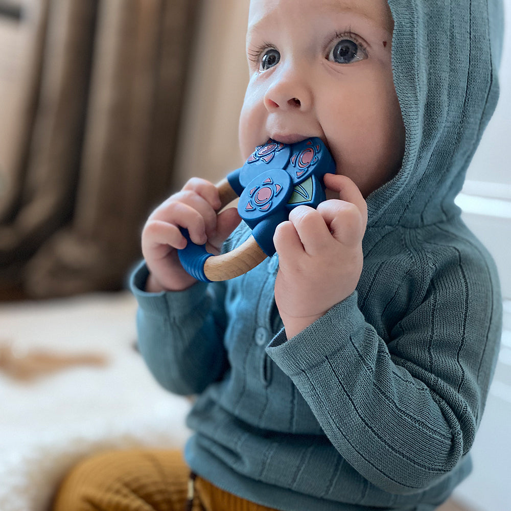 Nibbling Superfoods Teething Toy - blueberry